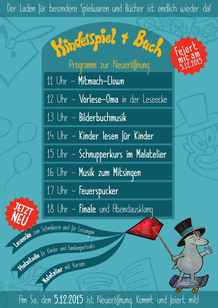 Kinderspiel + Buch - Plakat DIN A2