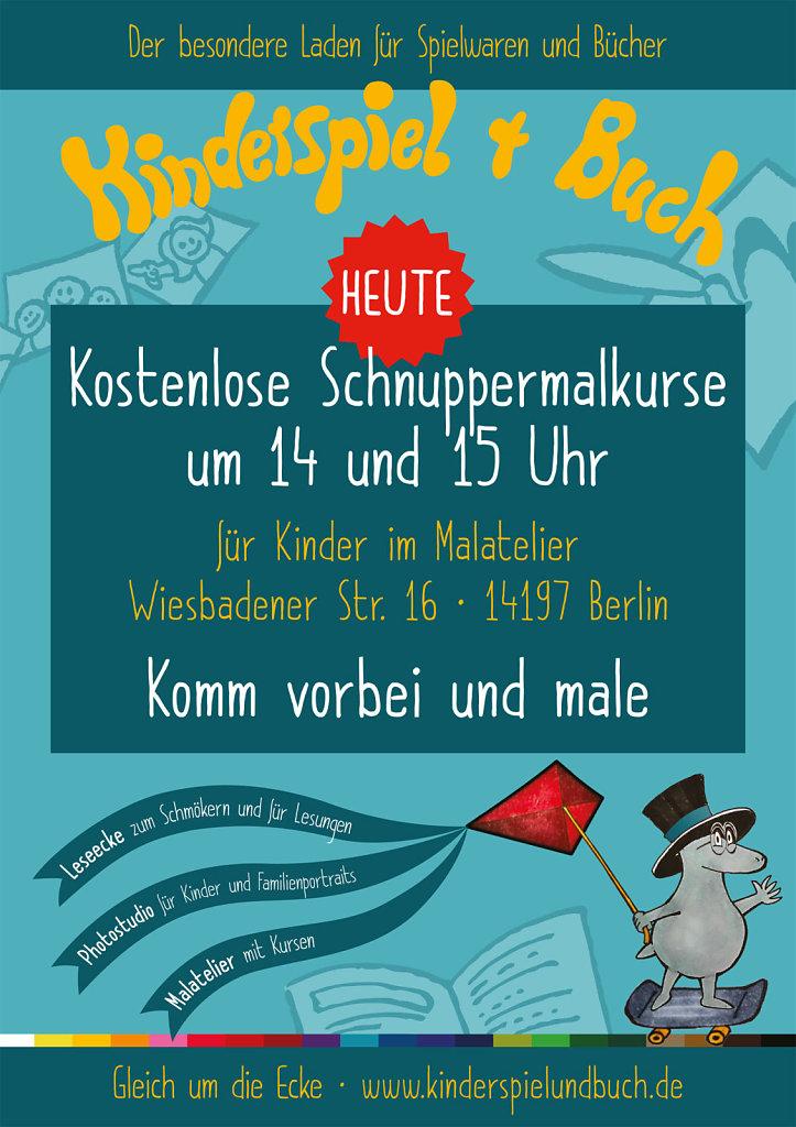 Kinderspiel + Buch - Plakat DIN A1
